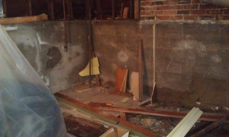 Closet area - walls gone
