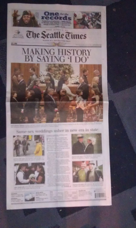 It was deemed important enough to command the entire front page plus a 2-page spread inside.