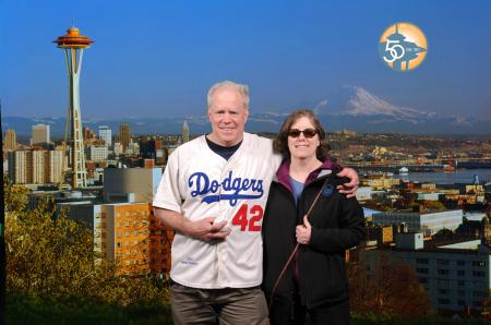 Space Needle photo on Jackie Robinson Day (Mariners did not play yesterday)