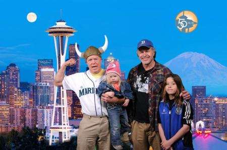 The Dixon's with Carl & Sagan at the Needle