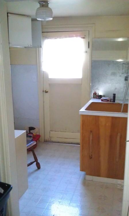 Almost empty kitchen