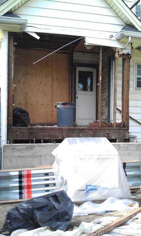 Light of Day reveals a new back porch. Or old breakfast nook repurposed