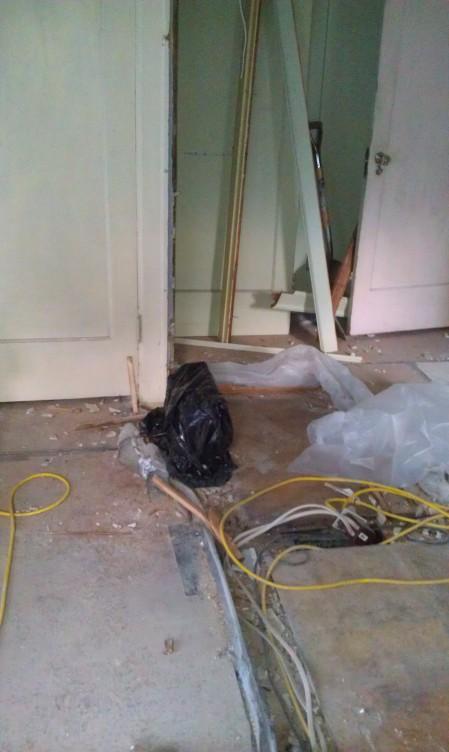 Black Bag over Asbestos