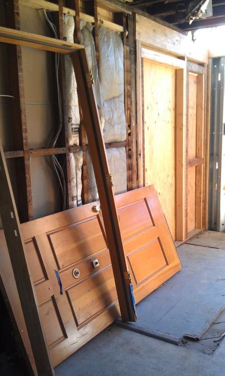 6-22-2013 Temporary door on the floor