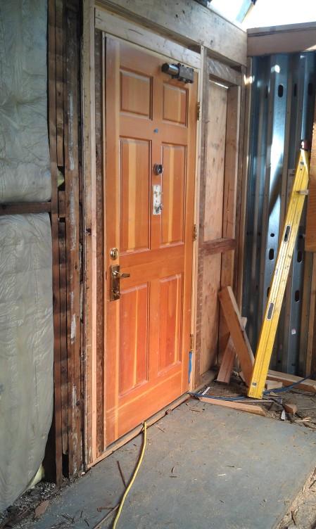6-24-2013 Temporary door installed