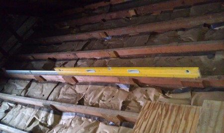 The biggest level I have ever seen - in the attic