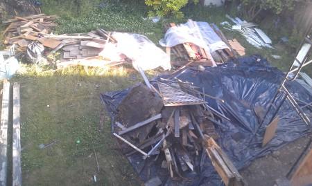 6-28-2013 Backyard Piles