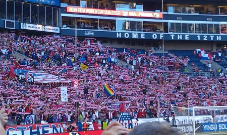 Scarves Up - USA Style (See two posts ago for Sounder's Style)