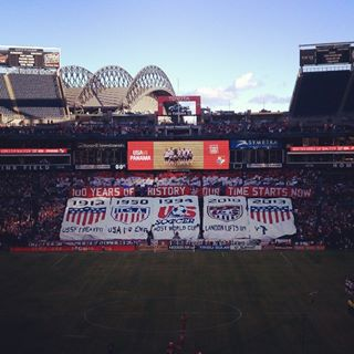 TIFO from Ashlan's Seats (Baseball stadium in the background)