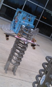 Skateboard racks, and a new Rec Center