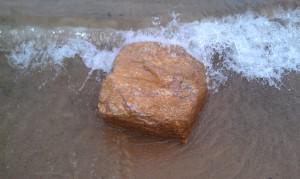 Amethyst Rock in the Water