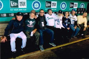 The gang + Rick Waits (Pitching Coach - who willingly joined our crew for a moment, and then again later)