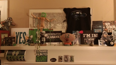 Seahawk Superbowl Shrine