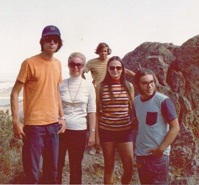 Early 1970s - all 3 Boys and 1 girlfriend